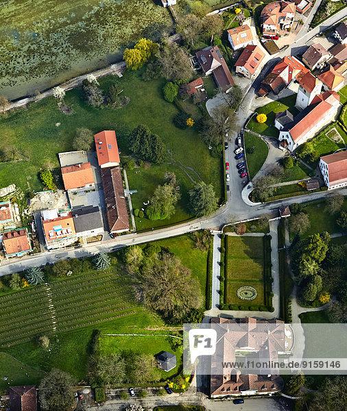Schloss Bodman von oben  Baden-Württemberg  Deutschland Schloss Bodman von oben, Baden-Württemberg, Deutschland