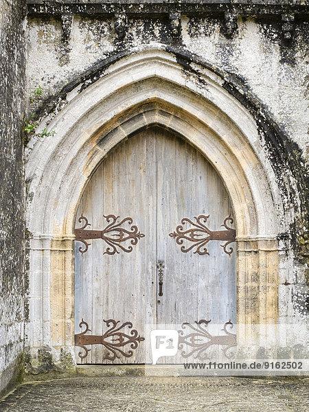 Portal vom Chateau de Beynac  Beynac-et-Cazenac  Département Dordogne  Aquitanien  Frankreich