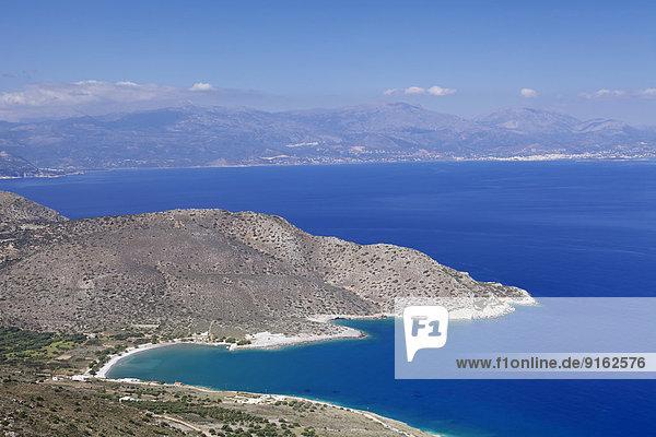Golf von Mirabello  Luftbild  bei Agios Nikolaos  Ostkreta  Kreta  Griechenland