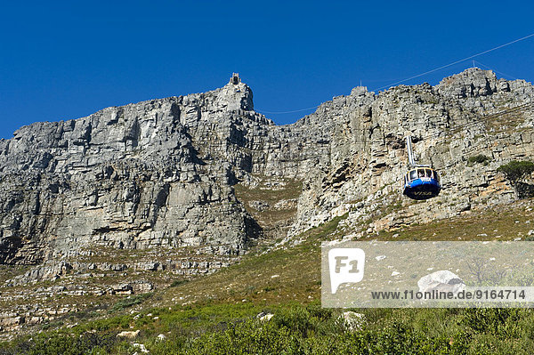 Table Mountain  Upper Cable Station and cable car  Cape Town  Western Cape  South Africa