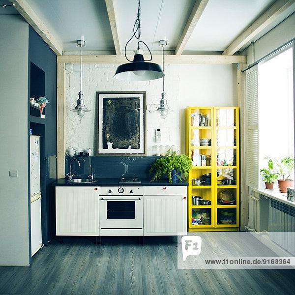 Spülbecken Küche Apartment Regal Backofen Ofen