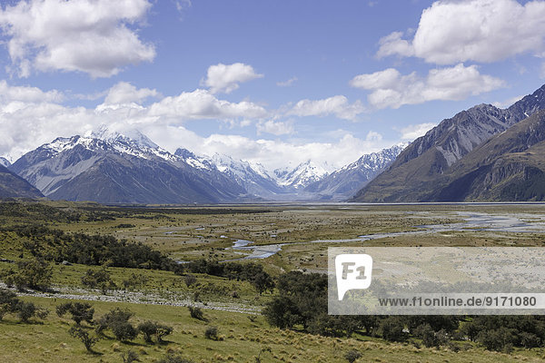 New Zealand  view to Mount Cook National Park