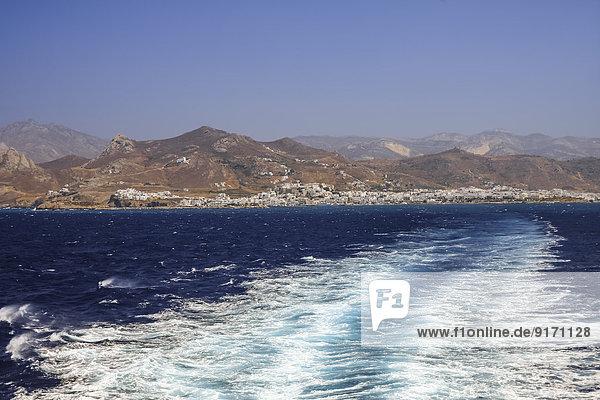 Griechenland  Kykladen  Insel  Naxos Stadt und Küste