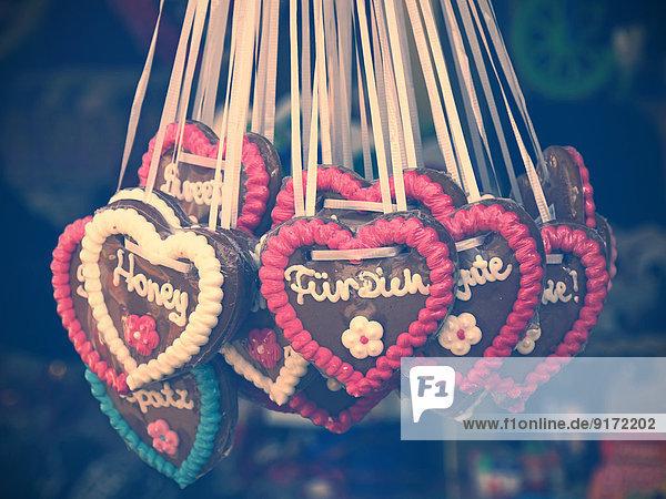 Germany  gingerbread hearts at fair