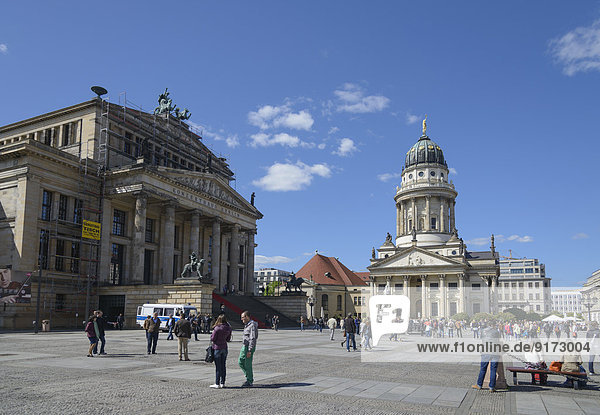 Germany  Berlin  Gendarmenmarkt  French Cathedral and concert hall