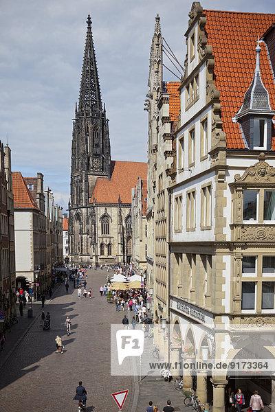 Germany  North Rhine-Westphalia  Muntser  Lambertus Church at Prinzipalmarkt