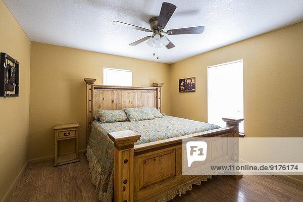 USA  Texas  Schlafzimmer Interieur