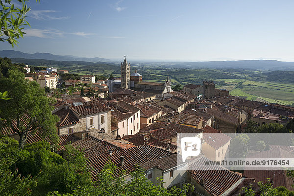 Italien  Toskana  Massa Marittima  Stadtansicht