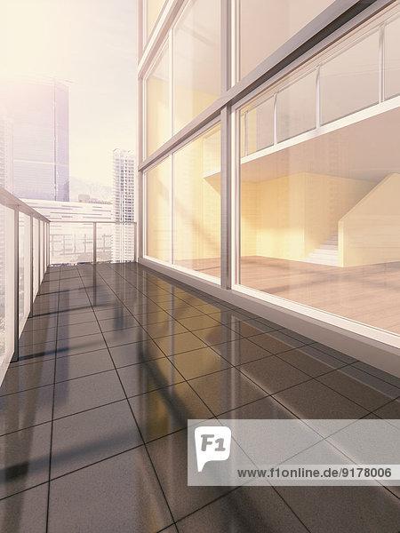 Penthouse  Außenansicht  3D-Rendering