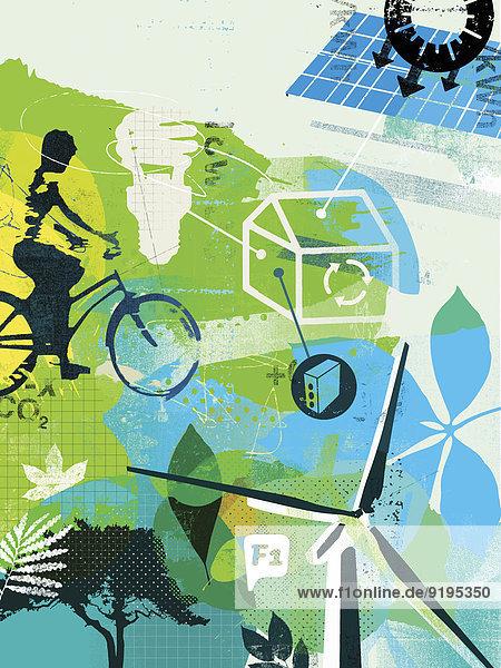 Energie energiegeladen Freundschaft Lifestyle Alternative Umwelt Weg