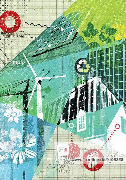 Energie energiegeladen Landschaft Alternative Schutz Weg