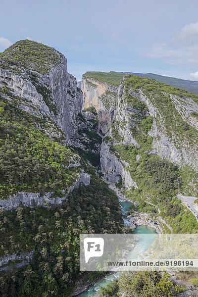 Gorges du Verdon oder Verdonschlucht  Département Alpes-de-Haute-Provence  Provence-Alpes-Côte d'Azur  Frankreich