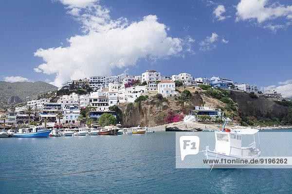 Küste Boot Dorf Kreta Griechenland