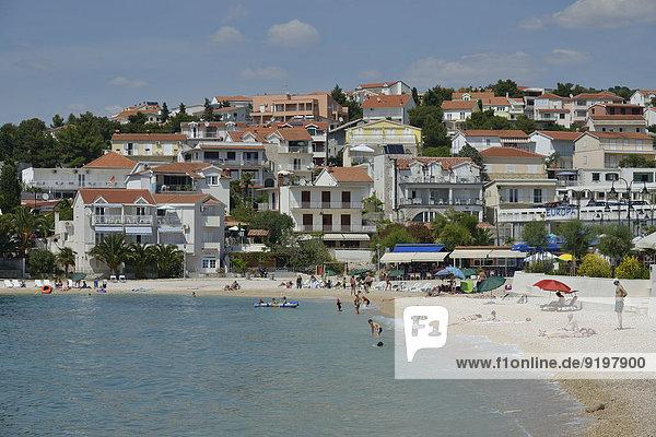 Strand Adriatisches Meer Adria Kroatien Dalmatien Primosten