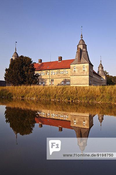 Wasserschloss Westerwinkel  Ascheberg  Münsterland  Nordrhein-Westfalen  Deutschland