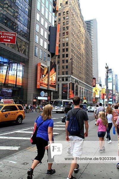New York City Vereinigte Staaten von Amerika USA Städtisches Motiv Städtische Motive Straßenszene Straßenszene