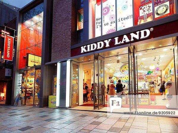 Kiddy Land  Japanese toy store in Harajuku  Tokyo  Japan.