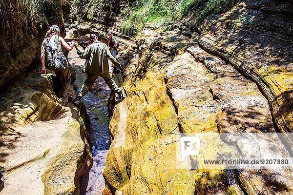 Nationalpark wandern Eingang Schlucht Kenia