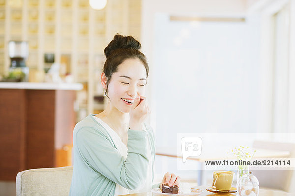 Frau Entspannung Cafe japanisch