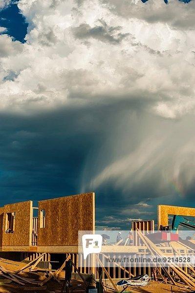 bauen Wohnhaus arbeiten Gebäude neu