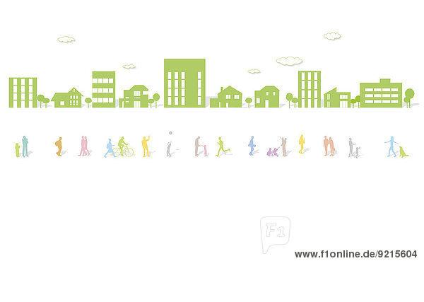 grün Illustration Großstadt
