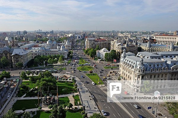 University Square viewed from the Intercontinental Hotel  Bucharest  Romania  Southeastern and Central Europe.