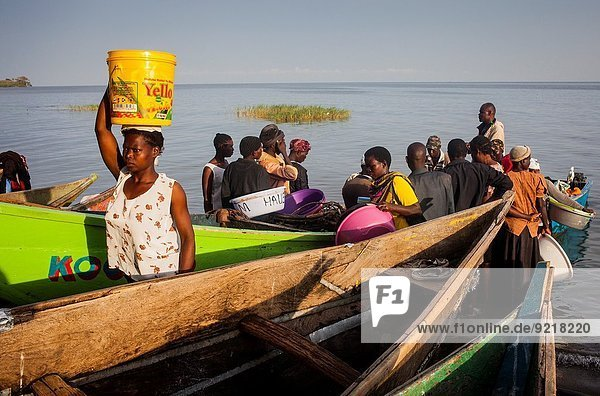 Hafen ankommen Fischer Kenia