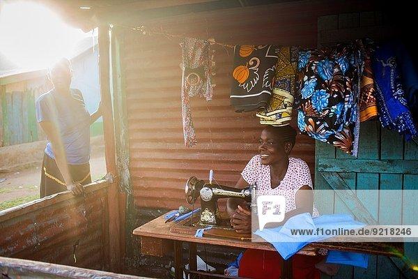 Dorf angeln Schneider Kenia
