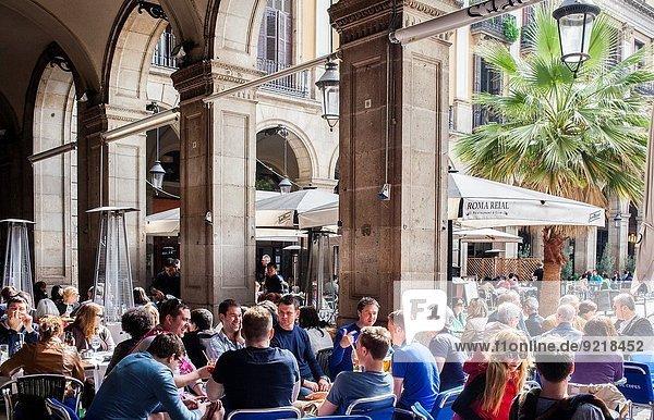 Restaurant Außenaufnahme Barcelona Spanien