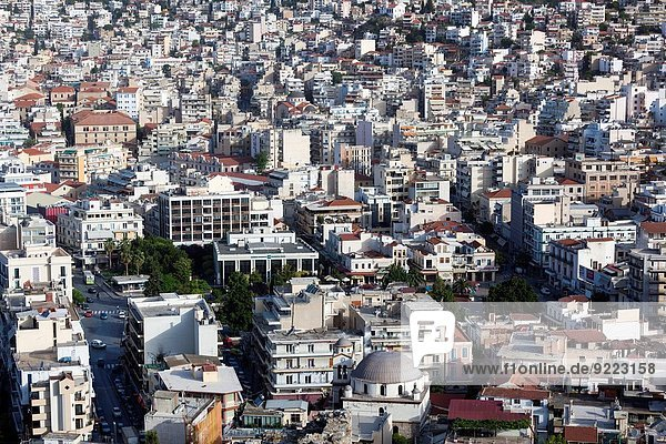 Morgen Großstadt Festung Ansicht Erhöhte Ansicht Aufsicht heben Griechenland Kastro
