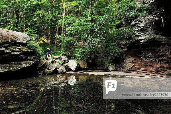 Vereinigte Staaten von Amerika USA Wasser Landschaft folgen Tal Brücke Desorientiert Schwimmbad Bach vorwärts Arkansas