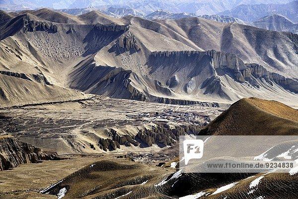 nahe klein Tal Dorf Grenze Mustang Nepal Tibet