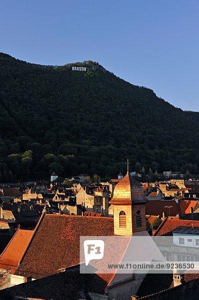 historic city centre of Brasov  Transylvania  Romania  Southeastern and Central Europe.