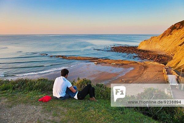 Cliff-Flysch over Itzurrun beach  Zumaia  Guipuzcoa  Basque Country  Spain