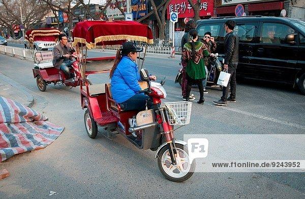 Wahrzeichen Peking Hauptstadt 3 Elektrische Energie China Rikscha