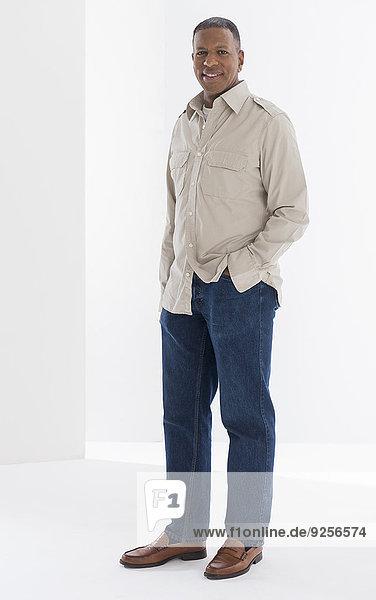 Portrait of mature man  studio shot