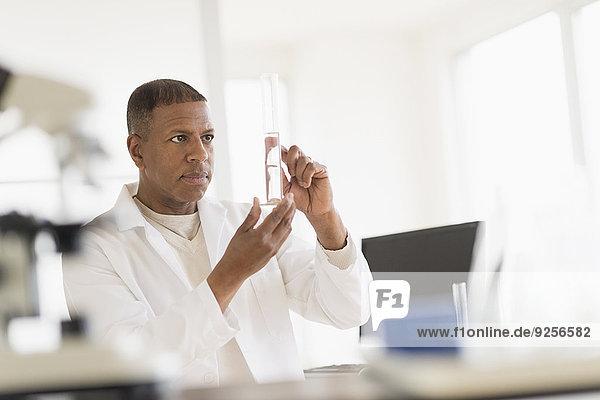 Male technician working in laboratory