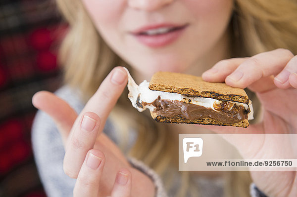 Woman holding smores