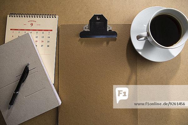 Klemmbrett Kaffee Tisch Notizblock