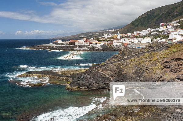Spanien  Kanarische Inseln  Teneriffa  Blick auf Garachico an der Nordküste