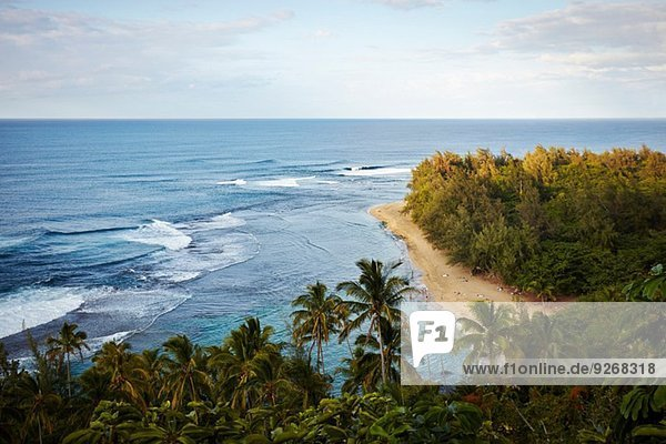 Ke'e Beach  Na Pali Küste  Kaua'i  Hawaii  USA