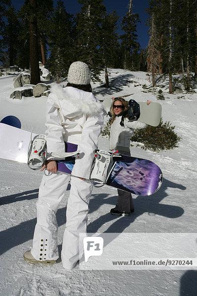 Frau Snowboard Ski 2 Hang
