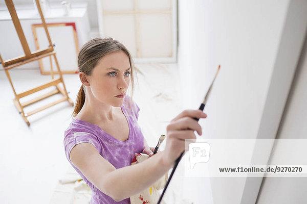 streichen streicht streichend anstreichen anstreichend Studioaufnahme Künstler