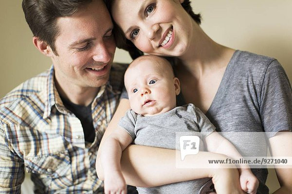 Portrait Sohn Menschliche Eltern Baby