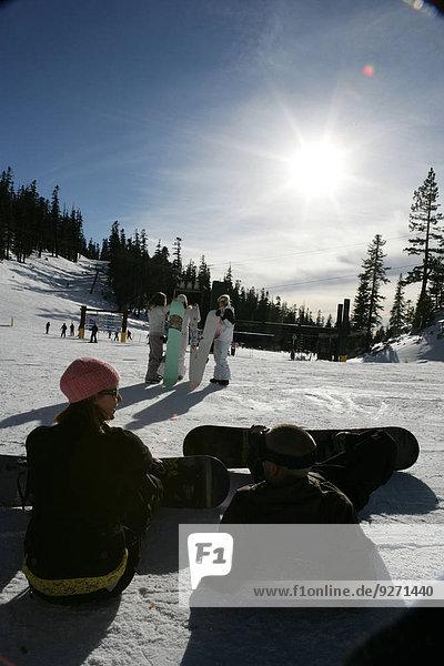 sitzend Ski Hang