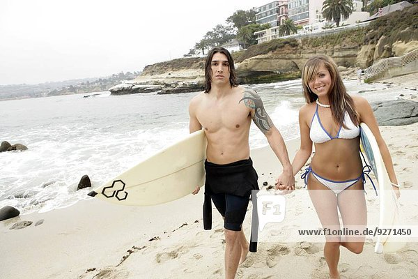 tragen Strand Surfboard Ansicht
