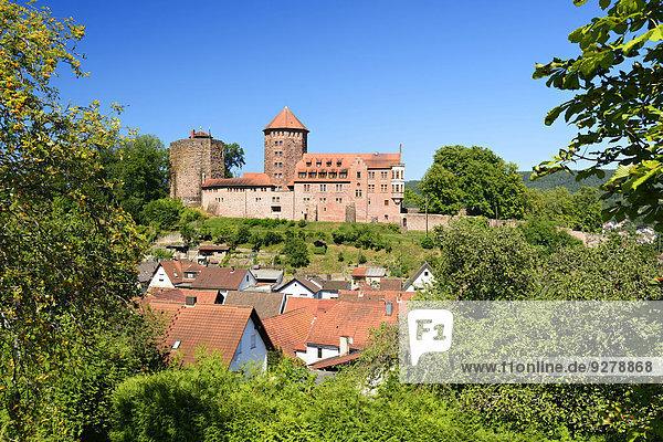 Burg und Stadt Rieneck im Sinntal  Unterfranken  Bayern  Deutschland