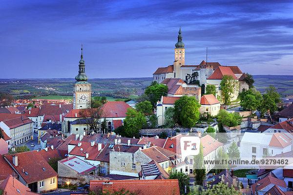 Stadtansicht  Mikulov  Breclav Bezirk  Jihomoravsky Region  Tschechien