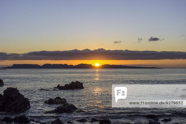 Sonnenuntergang über dem Meer  Punta de Choros  Región de Coquimbo  Chile