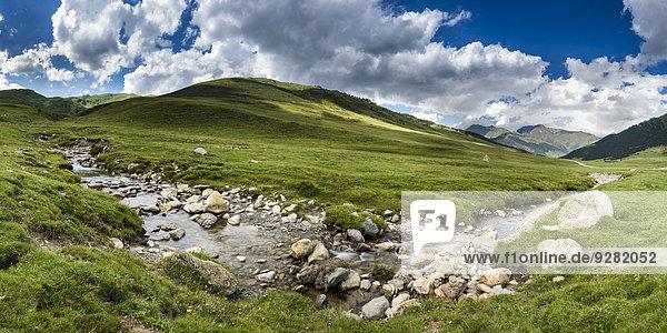 Plateau Pla de Beret  Val d?Aran  Pyrenäen  Katalonien  Spanien